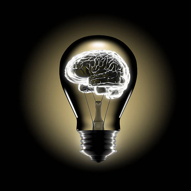 Human Brain in the Middle of a bulb:スマホ壁紙(壁紙.com)