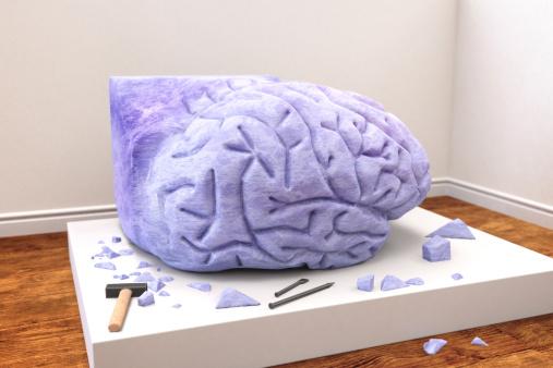 Chisel「Human brain sculpted from stone」:スマホ壁紙(10)