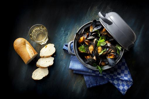Bread「Seafood: Mussels Mariniere Still Life」:スマホ壁紙(0)