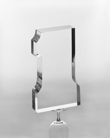 アーカイブ画像「Number 1 balanced on glass against white background, close-up」:スマホ壁紙(19)