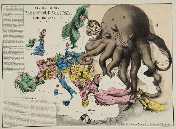 Illustration Technique「Serio-Comic War Map For The Year 1877」:写真・画像(10)[壁紙.com]