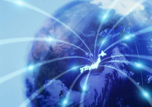 Emitting「Image of global networks」:スマホ壁紙(6)
