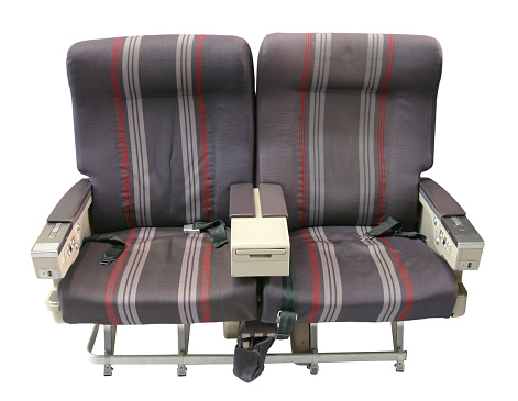 Economy Class「Airliner Seating Isolated on White Background」:スマホ壁紙(15)