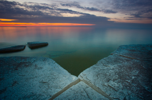 Bruce Peninsula National Park「Canada, Ontario, Bruce Peninsula NP, Georgian Bay, sunset, summer」:スマホ壁紙(0)