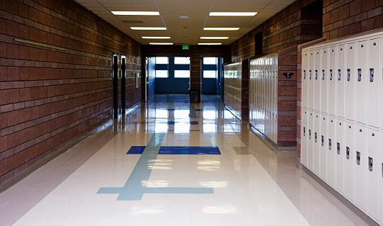 Entrance Hall「Empty School Hallway」:スマホ壁紙(17)