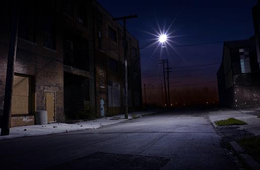 夜「サイドストリート」:スマホ壁紙(19)