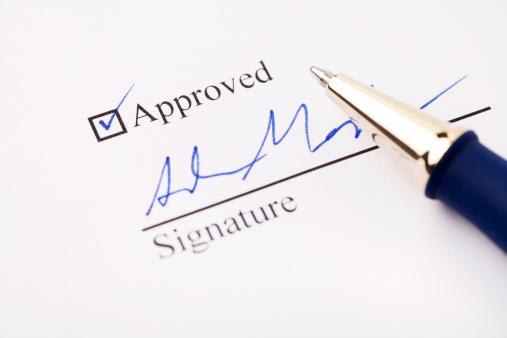 Loan「An signature under an approved check mark」:スマホ壁紙(9)