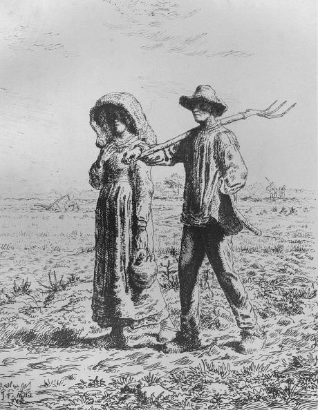 Jean Francois Millet「Le Départ Por Le Travail 1863」:写真・画像(8)[壁紙.com]