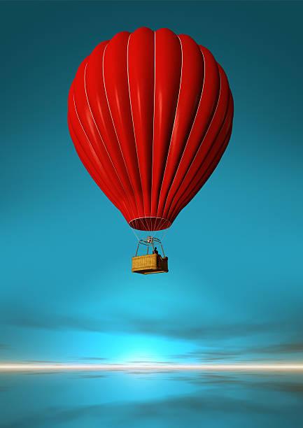 Red Hot-Air Balloon:スマホ壁紙(壁紙.com)