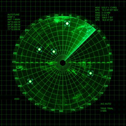 Graphical User Interface「radar」:スマホ壁紙(5)