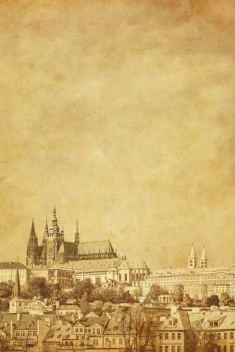 St Vitus's Cathedral「Vintage photo of Prague Castle」:スマホ壁紙(18)