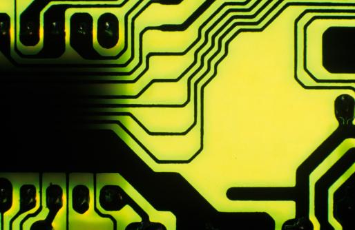 Motor Racing Track「Green circuit board, close-up」:スマホ壁紙(4)