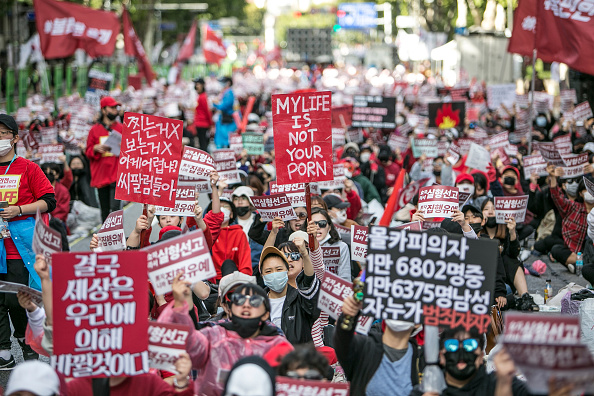South Korea「South Korean Women Rally Against Hidden Camera Pornography」:写真・画像(10)[壁紙.com]