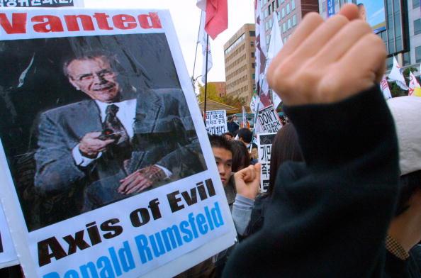 Evil「Anti-U.S. Protest In Seoul, South Korea」:写真・画像(16)[壁紙.com]