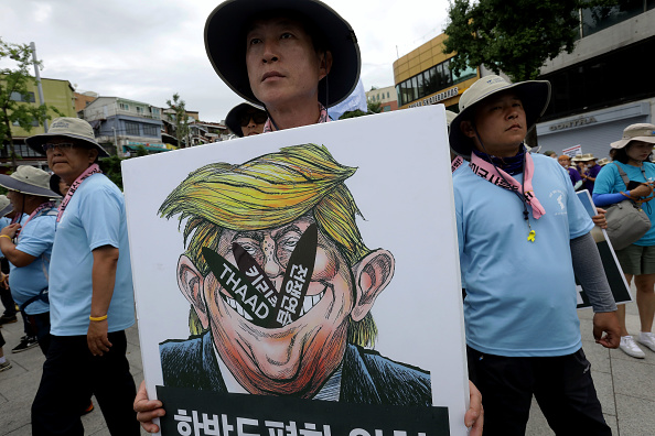 South Korea「Anti-U.S. Protesters Rally Against THAAD Missile System Deployment In South Korea」:写真・画像(12)[壁紙.com]