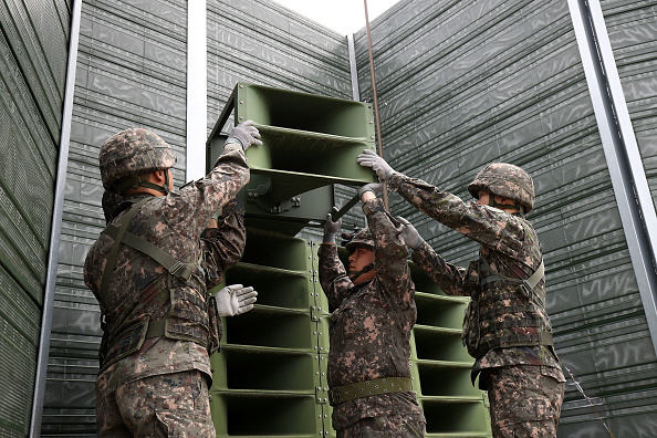 South Korea「S. Korea's Military Remove Propaganda Loudspeakers From DMZ」:写真・画像(13)[壁紙.com]