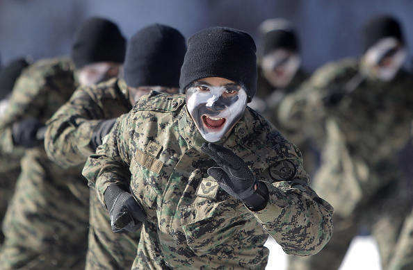 South Korea「South Korean Soldiers Train In Sub-Zero Winter Weather」:写真・画像(12)[壁紙.com]
