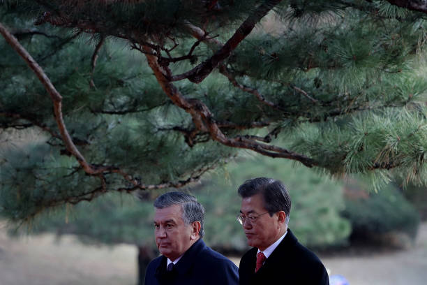 Uzbekistan President Shavkat Mirziyoyev Visits South Korea:ニュース(壁紙.com)