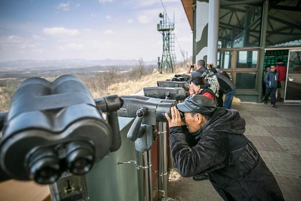 Tourism「Tourists Visit Korean Border Dorasan Observatory」:写真・画像(4)[壁紙.com]
