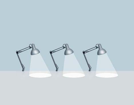 Desk Lamp「Three desk lamps」:スマホ壁紙(4)