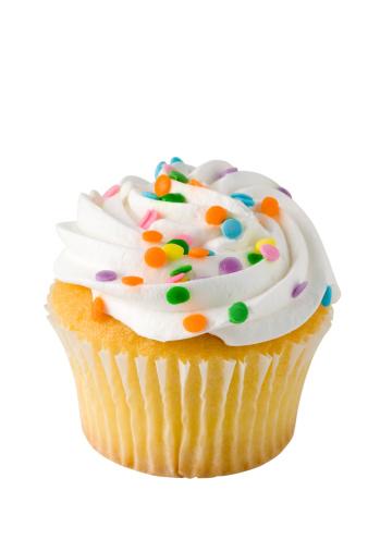 アイシング「カップケーキの背景に白、クリッピングパス」:スマホ壁紙(9)