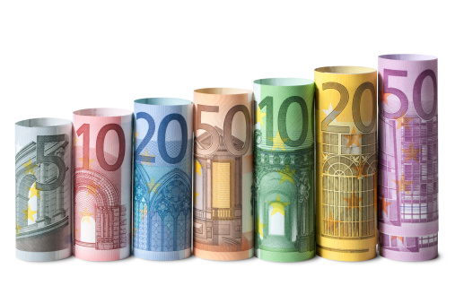 Better fortune「Rolled up euro banknotes」:スマホ壁紙(1)