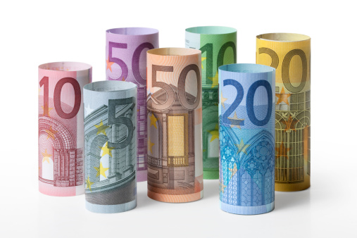 European Union Coin「Rolled up euro banknotes」:スマホ壁紙(13)