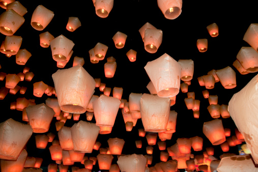 Chinese Lantern「Lantern festival, Shifen, Taiwan」:スマホ壁紙(16)
