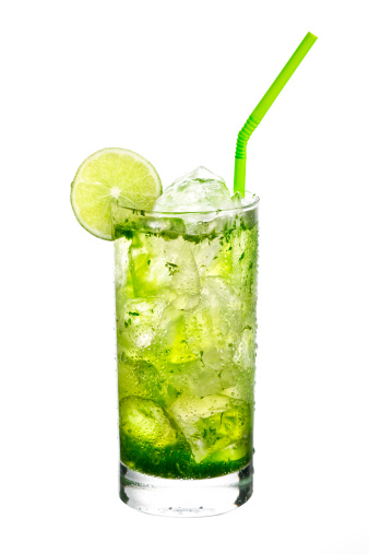 Mint Leaf - Culinary「Mojito cocktail on White background.」:スマホ壁紙(17)