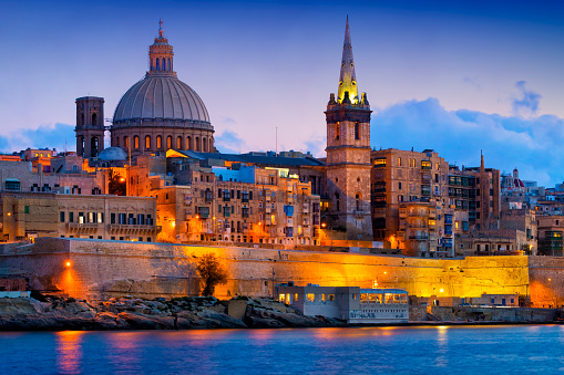 Cathedral「Malta - Mediterranean travel destination, Valletta with Cathedral of Saint Paul」:スマホ壁紙(13)