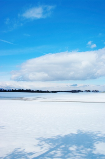 Japan「A Snowy Field and a Blue Sky. Nagano Prefecture, Japan」:スマホ壁紙(11)