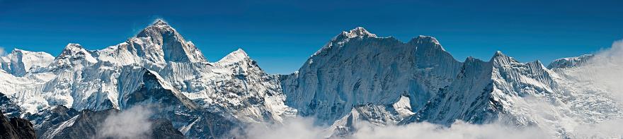 Island Peak「High altitude mountain wilderness peak panorama Himalayas」:スマホ壁紙(3)