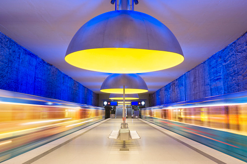 Art And Craft「Colourful subway station in Munich Germany」:スマホ壁紙(1)
