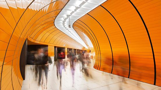Railway「Colourful subway station in Munich Germany」:スマホ壁紙(12)