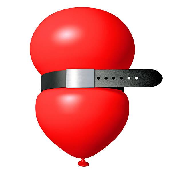 red balloon with a pants belt on white:スマホ壁紙(壁紙.com)