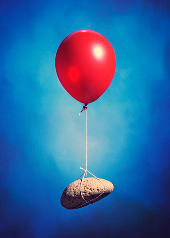 Rock - Object「Red Balloon With Floating Rock」:スマホ壁紙(19)
