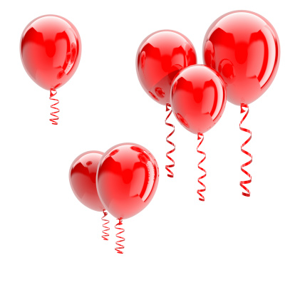 Birthday「Red Balloons」:スマホ壁紙(2)