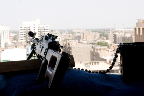 Baghdad「A PK 7.62mm machine gun nest on top of the Baghdad Hotel during Operation Iraqi Freedom.」:スマホ壁紙(19)