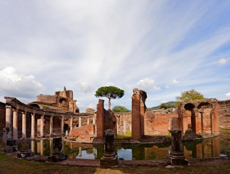 Roman「Ancient landscape, Italy」:スマホ壁紙(17)
