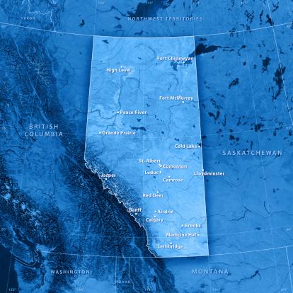 Mt Athabasca「アルバータ都市 Topographic マップ」:スマホ壁紙(3)