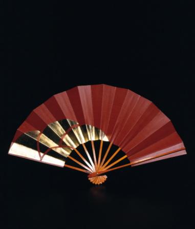 Folding Fan「Brown and gold Japanese fan」:スマホ壁紙(3)