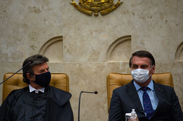 President of Brazil「Bolsonaro Participates in the Swearing-In Ceremony of the Supreme Court President Amidst the Coronavirus (COVID - 19) Pandemic」:写真・画像(13)[壁紙.com]