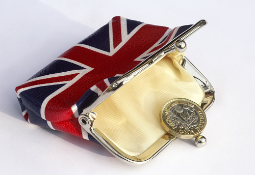Change Purse「Union jack purse with just one one pound coin in it.」:スマホ壁紙(11)