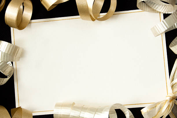 Card with ribbons.:スマホ壁紙(壁紙.com)