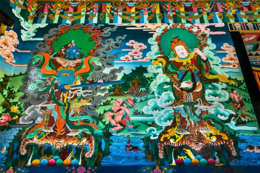 Himachal Pradesh「Drikung Kagyu Gompa Monastery, painted wall murals」:スマホ壁紙(11)
