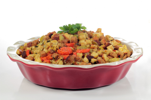 Celery「Stuffing being served in a red casserole dish」:スマホ壁紙(9)