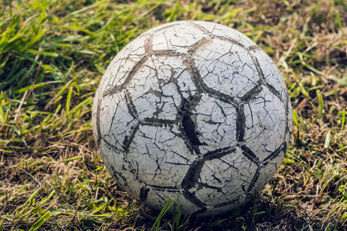 Focus On Foreground「Austria, Close up of old soccer ball」:スマホ壁紙(8)
