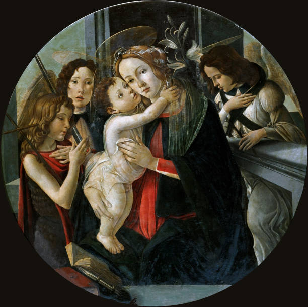 The Madonna And Child With Saint John And Two Angels. Creator: Botticelli:ニュース(壁紙.com)
