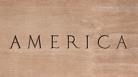 Etching「Word America engraved into stone surface」:スマホ壁紙(18)