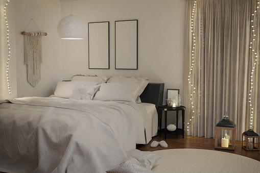 Atmospheric Mood「Cozy Christmas Bedroom」:スマホ壁紙(7)